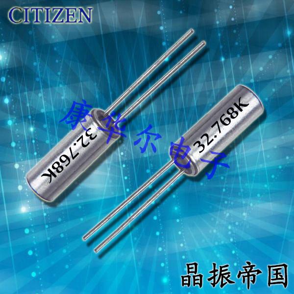 西铁城晶振,32.768K晶体,CFS-308晶振,CFS308-32.768KDZF晶振