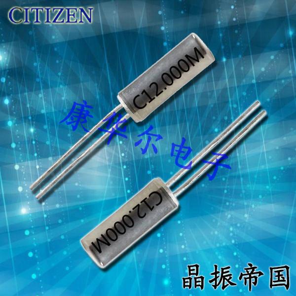 西铁城晶振,圆柱晶体,CSA-310晶振.CSA-309晶振