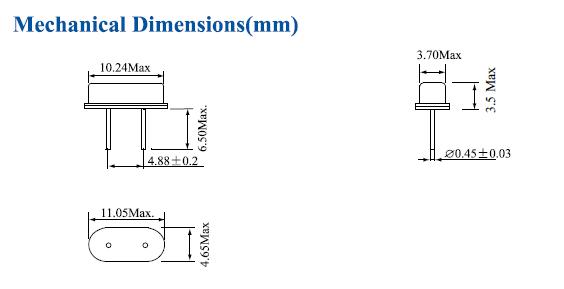 鸿星晶振,E49A晶振,HC-49SA晶振,低功耗晶振